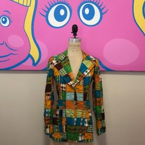 Vintage Cotton Patchwork blazer 1970s